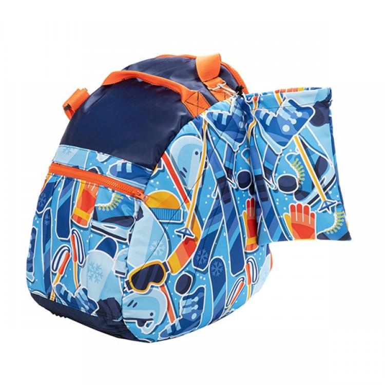 Blue Slope Man ski shoes bag
